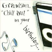 Grandson Birthday Card - Chill out