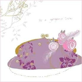 Luxury Sister Birthday Card - Boutique Chic