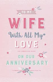 Pink Foil Anniversary Card