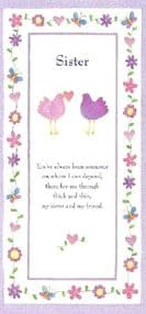 Sister Birthday Card - Birds