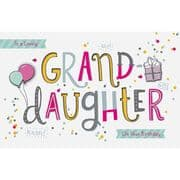 A Lovely Granddaughter Birthday Card