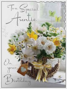 A Special Auntie Birthday Card