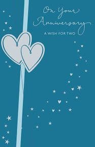 A Wish For Two Wedding Anniversary Card
