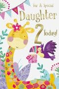 Age 2 Daughter Birthday Card