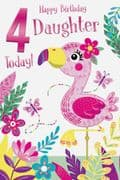 Age 4 Daughter Birthday Card