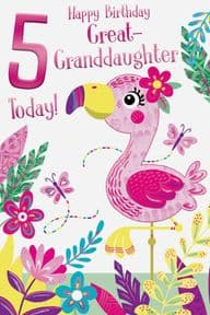Age 5 Great Granddaughter Birthday Card