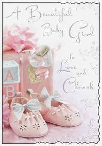 Beautiful New Baby Girl Card