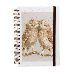 Birds of a Feather Owl Spiral Bound A5 Notebook