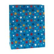 Blue Stars Large Gift Bag