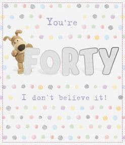 Boofle Forty Birthday Card