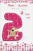 Boofle Girl 2nd Birthday Card