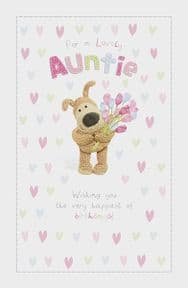 Boofle Lovely Auntie Birthday Card