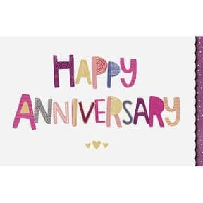 Bright Anniversary Card