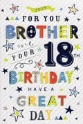 Brother 18th Celebrate Birthday Card