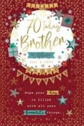 Brother Happy 70th Birthday Card
