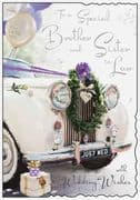Brother & Sister in Law Wedding Day Card