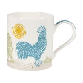 Churchill Woodcut Rooster Mug in Gift Box