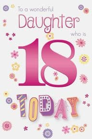 Colourful Daughter 18th Birthday Card