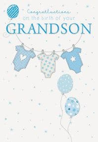 Congratulations on the Birth of your Grandson Greeting Card