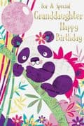 Cute Granddaughter Birthday Card