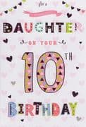 Daughter 10th Birthday Card