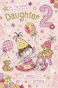 Daughter Age 2 Birthday Card