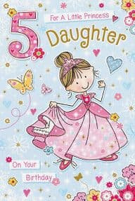 Daughter Age 5 Birthday Card