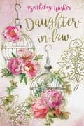 Daughter-in-Law Floral Birthday Card