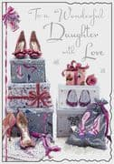 Daughter Shoes Birthday Card