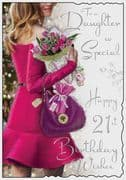 Daughter So Special 21st Birthday Card