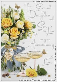 Daughter & Son in Law Wedding Anniversary Card