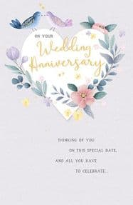 Dreams On Your Wedding Anniversary Card