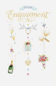 Engagement Doves Greeting Card