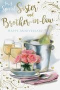 For A Special Sister & Brother in Law Wedding Anniversary Card