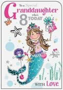 Granddaughter 8th Birthday Card