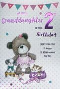 Granddaughter Happy 2nd Birthday Card
