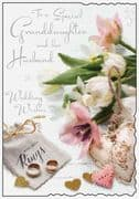 Granddaughter & Her Husband Wedding Day Card