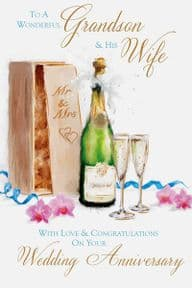Grandson & His Wife Wedding Anniversary Card