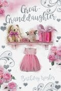 Great Granddaughter Bunny Birthday Card