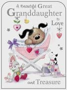 Great Granddaughter New Baby Card