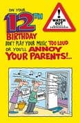 Humorous 12th Birthday Card with Badge