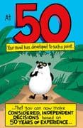 Humorous 50th Experience Birthday Card