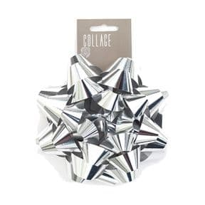 Large Silver Gift Bow