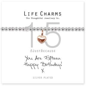 Life Charms 15th Birthday Silver Plated Bracelet