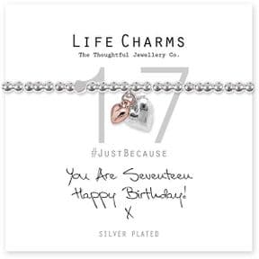 Life Charms 17th Birthday Silver Plated Bracelet