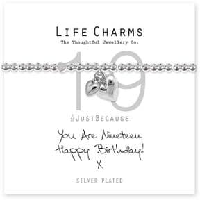 Life Charms 19th Birthday Silver Plated Bracelet