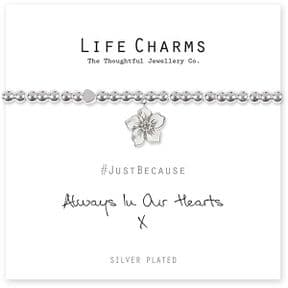 Life Charms Always In Our Hearts Silver Plated Bracelet