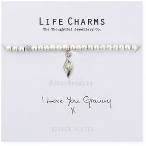 Life Charms I love You Granny Silver Plated Bracelet