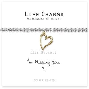 Life Charms I'm Missing You Silver Plated Bracelet