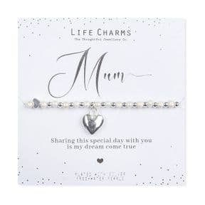 Life Charms Mother of the Bride Silver Plated Bracelet
